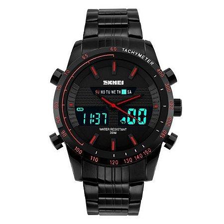 Relógio Masculino Skmei Anadigi 1131 Vermelho-