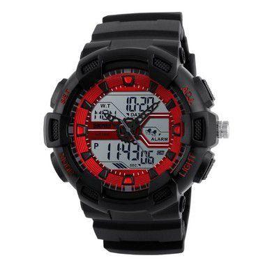 Relógio Masculino Skmei Anadigi 1189 Vermelho-