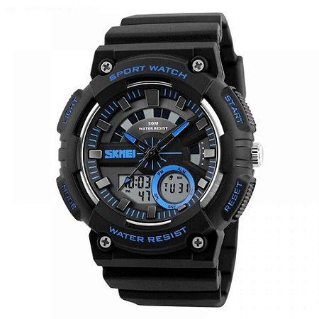 Relógio Masculino Skmei AnaDigi 1235 - Preto e Azul