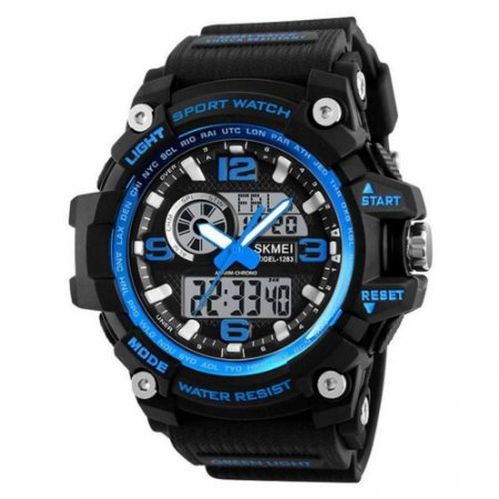 Relógio Masculino Skmei AnaDigi 1283 - Preto e Azul