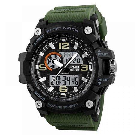Relógio Masculino Skmei AnaDigi 1283 - Verde e Preto