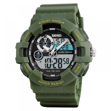 Relógio Masculino Skmei Anadigi 1312 Verde