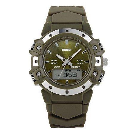 Relógio Masculino Skmei Anadigi 0821 Verde-
