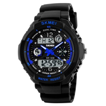 Relógio Masculino Skmei AnaDigi 0931 - Preto e Azul