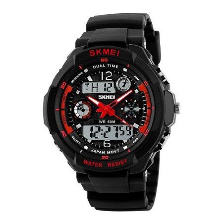 Relógio Masculino Skmei AnaDigi 0931 - Preto e Vermelho