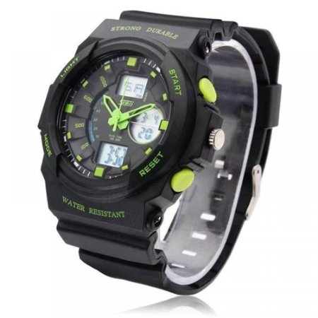 Relógio Masculino Skmei AnaDigi 0955 - Preto e Verde