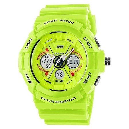 Relógio Masculino Skmei Anadigi 0966 Verde-