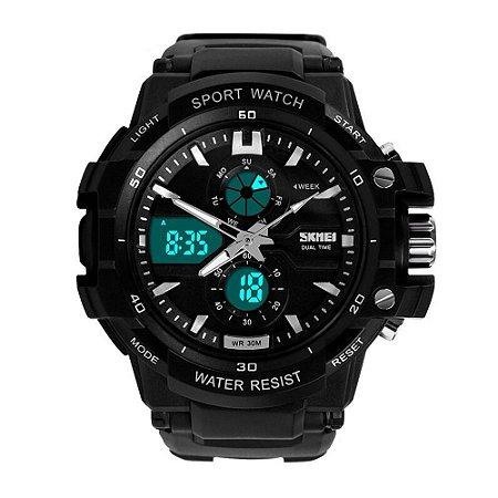Relógio Masculino Skmei AnaDigi 0990 - Preto e Branco