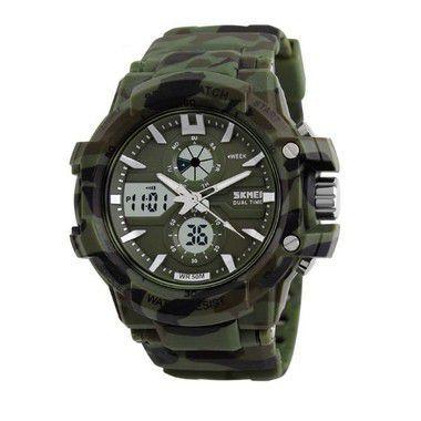 Relógio Masculino Skmei Anadigi 0990 Verde-