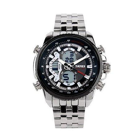 Relógio Masculino Skmei Anadigi 0993 Prata-