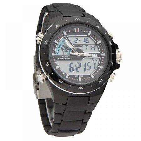 Relógio Masculino Skmei AnaDigi 1016 - Preto e Prata