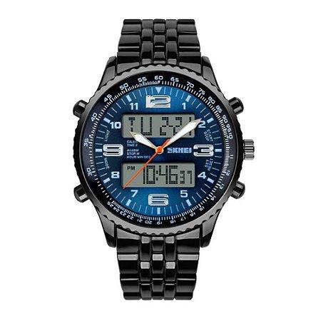 Relógio Masculino Skmei Anadigi 1032 Azul