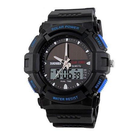 Relógio Masculino Skmei AnaDigi 1050 - Preto e Azul