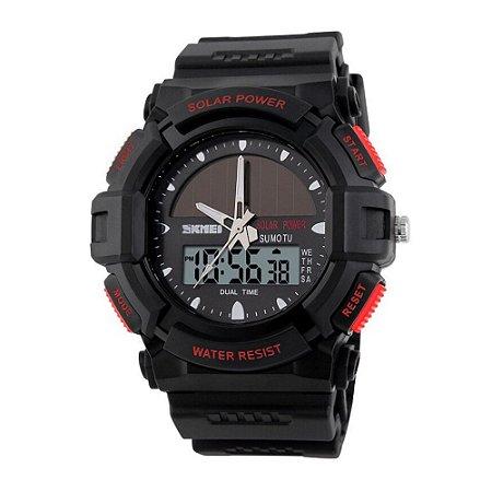 Relógio Masculino Skmei AnaDigi 1050 - Preto e Vermelho