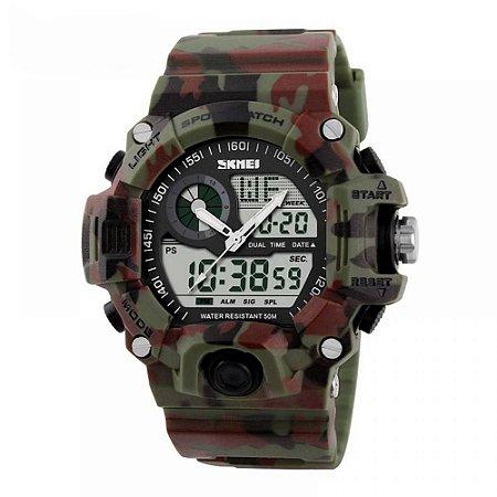 Relógio Masculino Skmei AnaDigi 1053 - Camuflado