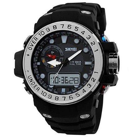 Relógio Masculino Skmei AnaDigi 1063 - Preto e Prata