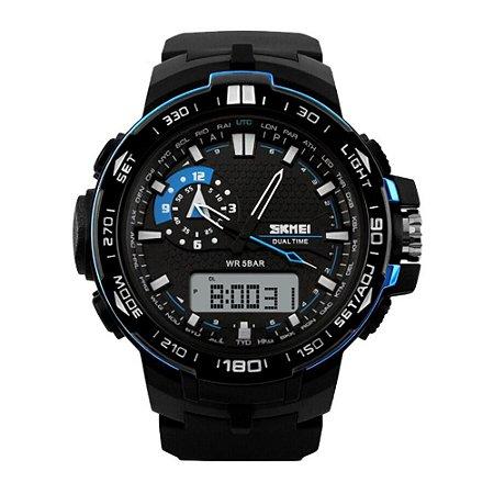 Relógio Masculino Skmei AnaDigi 1081 - Preto e Azul