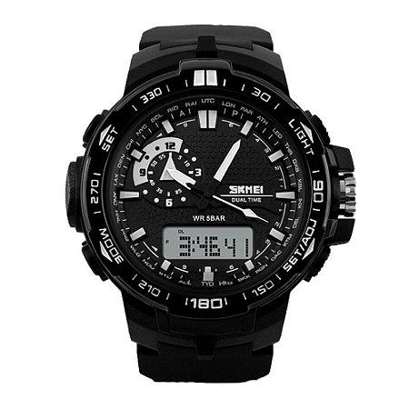 Relógio Masculino Skmei AnaDigi 1081 - Preto e Branco
