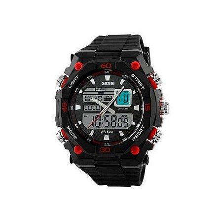 Relógio Masculino Skmei Anadigi 1092 Vermelho-