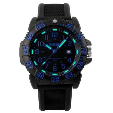 Relógio Masculino Skmei Analógico 1078 Preto e Azul-