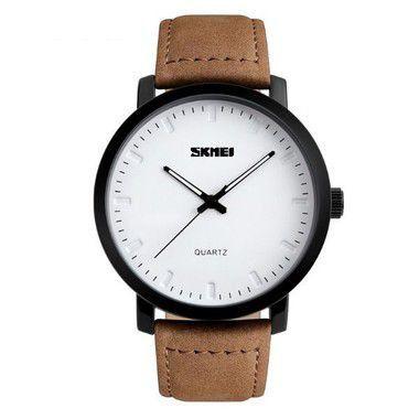 Relógio Masculino Skmei Analógico 1196 Branco-