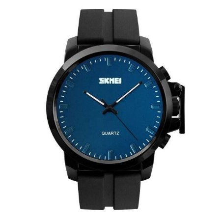Relógio Masculino Skmei Analógico 1208 - Preto e Azul