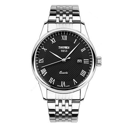 Relógio Masculino Skmei Analógico 9058 - Prata e Preto
