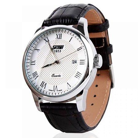 Relógio Masculino Skmei Analógico 9058 - Preto e Branco