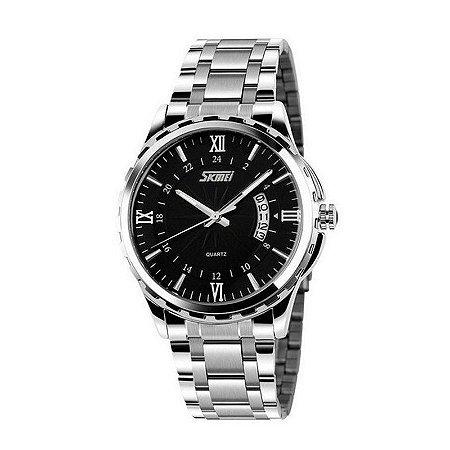 Relógio Masculino Skmei Analógico 9069 Preto-