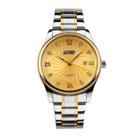 Relógio Masculino Skmei Analógico 9101 Dourado