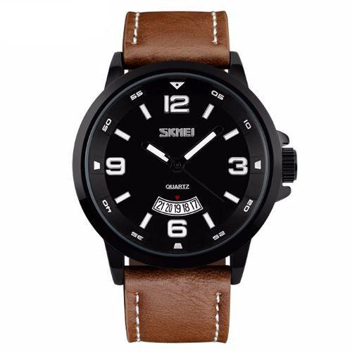 Relógio Masculino Skmei Analógico 9115 Marrom-