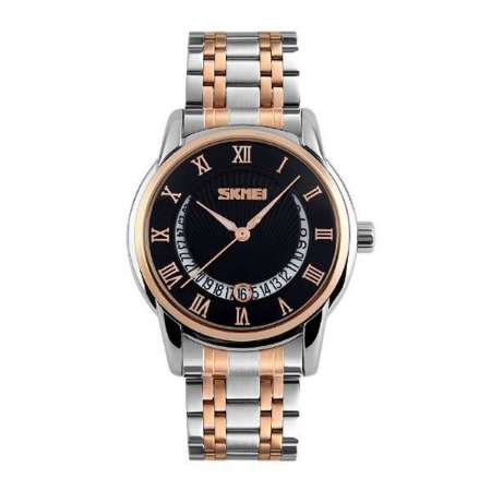 Relógio Masculino Skmei Analógico 9122 - Prata, Dourado e Preto