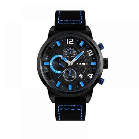 Relógio Masculino Skmei Analógico 9149 - Preto e Azul