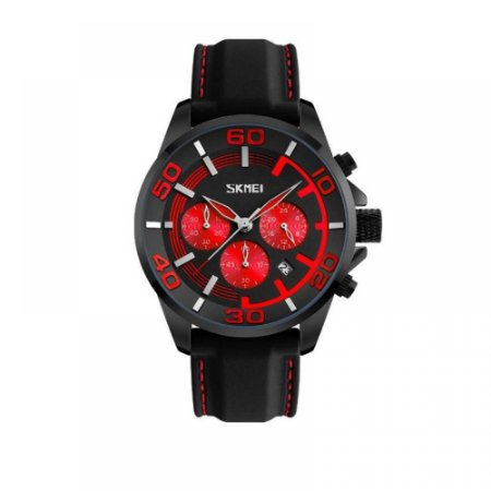 Relógio Masculino Skmei Analógico 9154 Vermelho