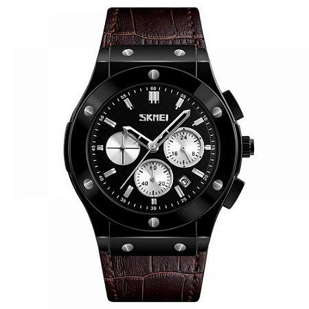 Relógio Masculino Skmei Analógico 9157 - Marrom e Preto