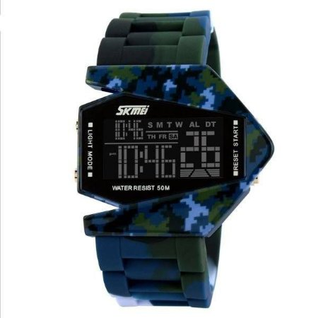 Relógio Masculino Skmei Digital 0817 - Camuflado Verde e Azul