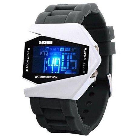 Relógio Masculino Skmei Digital 0817 - Cinza e Branco