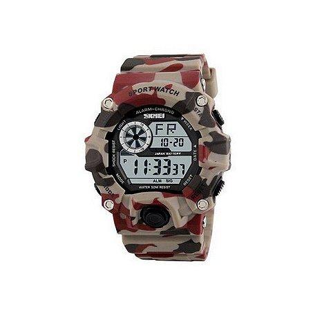 Relógio Masculino Skmei Digital 1019 Bege-