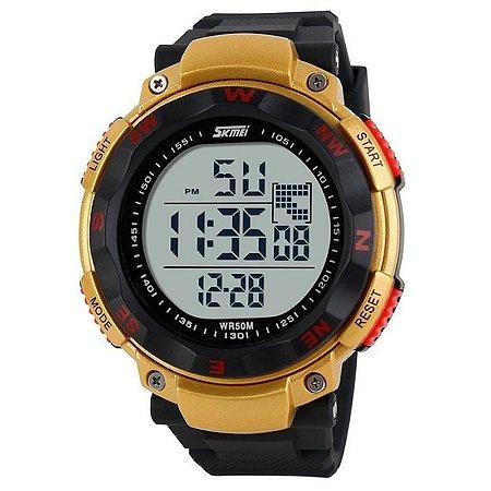 Relógio Masculino Skmei Digital 1024 Preto e Dourado-