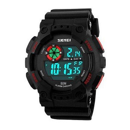 Relógio Masculino Skmei Digital 1101 - Preto e Vermelho-