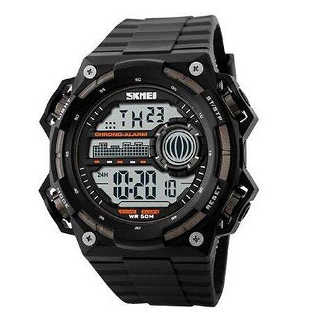 Relógio Masculino Skmei Digital 1115 Preto e Prata-