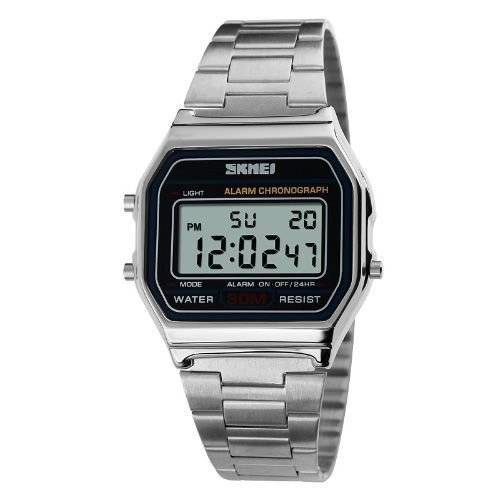 Relógio Masculino Skmei Digital 1123 Prata-