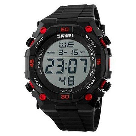 Relógio Masculino Skmei Digital 1130 - Preto e Vermelho-