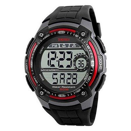 Relógio Masculino Skmei Digital 1203 - Preto e Vermelho-