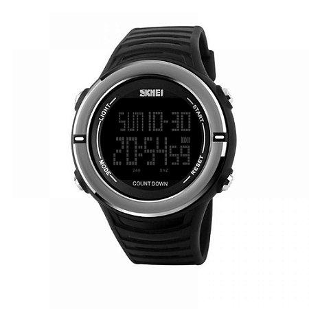 Relógio Masculino Skmei Digital 1209 - Preto e Prata