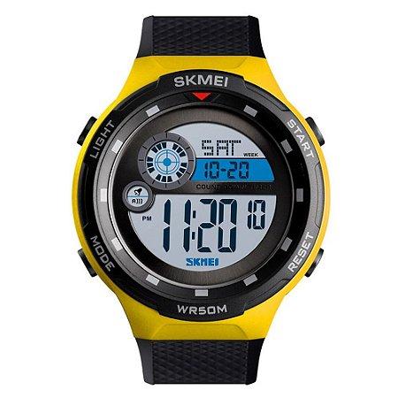 Relógio Masculino Skmei Digital 1465 - Preto e Amarelo