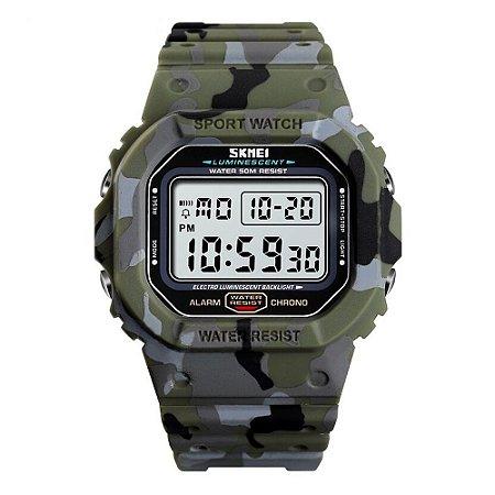 Relógio Masculino Skmei Digital 1471 - Verde Camuflado