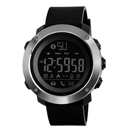 Relógio Pedômetro Masculino Skmei Digital 1287 - Preto e Prata