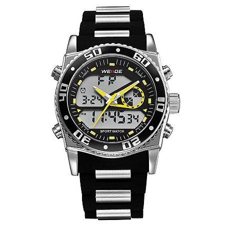 Relógio Masculino Weide AnaDigi Esporte WH-2316 Amarelo-