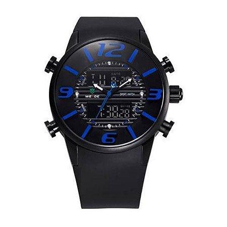 Relógio Masculino Weide AnaDigi Esporte WH-3402 - Preto e Azul